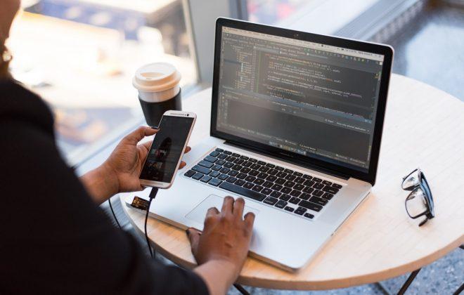 app developer coding an app